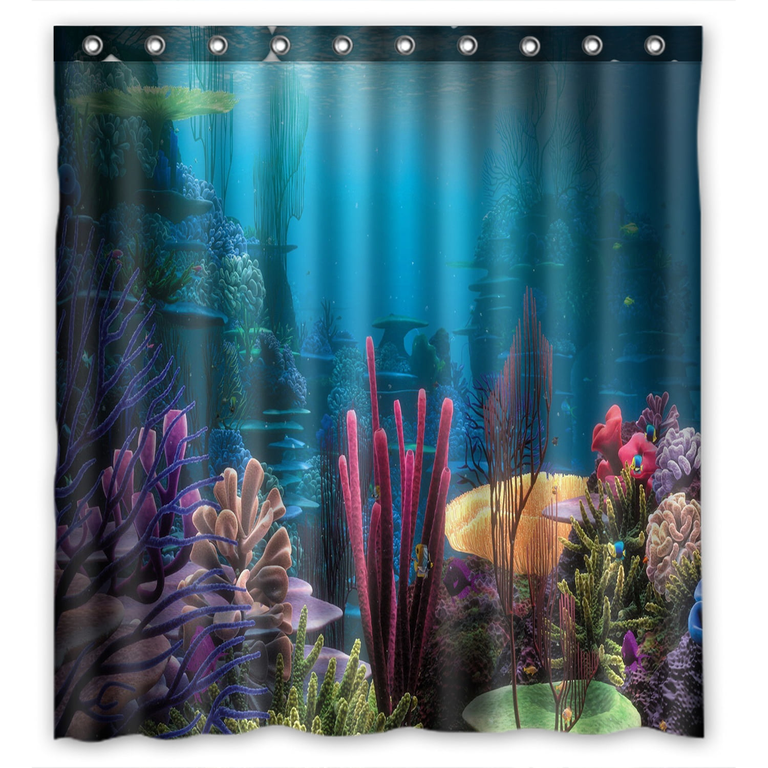 ZKGK Underwater World Sea Life Ocean Animals Fish Coral
