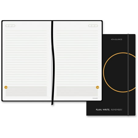 AT-A-GLANCE Perfect-Bound Planning Notebook Lined with Monthly Calendars, 5 x 8 1/4