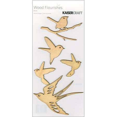 Kaisercraft FL304 Bois s'-panouit 5-pkg-Birds - image 1 de 1