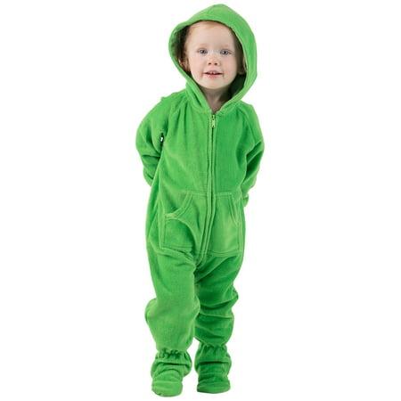 49dc2f8fa Footed Pajamas - Footed Pajamas - Emerald Green Infant Hoodie Fleece ...