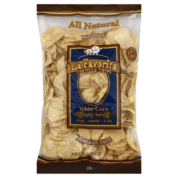 La Favorita All Natural Lightly Salted White Corn Tortilla Chips, 16 Oz.