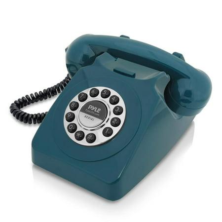 PYLE PPRETRO25BL - Vintage / Classic Style Corded Phone - Retro Design Landline Telephone