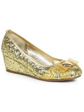 c546564a59a9e7 ... Women s Gold Glitter Princess Shoe with Heart Decor get new a7e9d f3295  ...