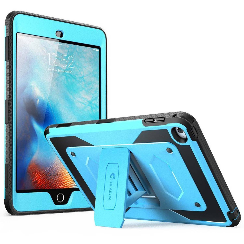 iBlason iPad Mini 4 Armorbox Full Body Kickstand Case w/ Screen Protector Blue