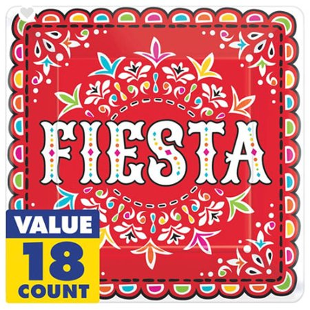 Fiesta 'Picado de Papel' Extra Large Paper Plates (18ct) - Fiesta Plate