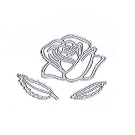 Flower Shape Cutting Dies Carbon Steel Rose Embossing Stencil Metal Mould DIY Scrapbook Photo Album Crafts - image 6 de 6