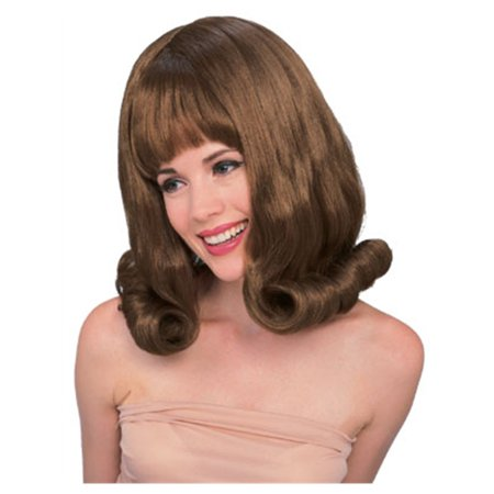 Adult's Mary Tyler Moore Style Brown Hairspray Flip Wig (Brown Hair Wig Halloween)