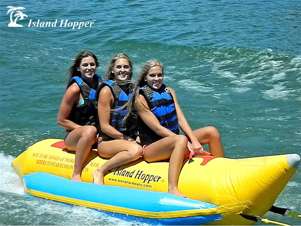 3-Passenger Inline Heavy Recreational Banana Boat by Aqua Sports Technology