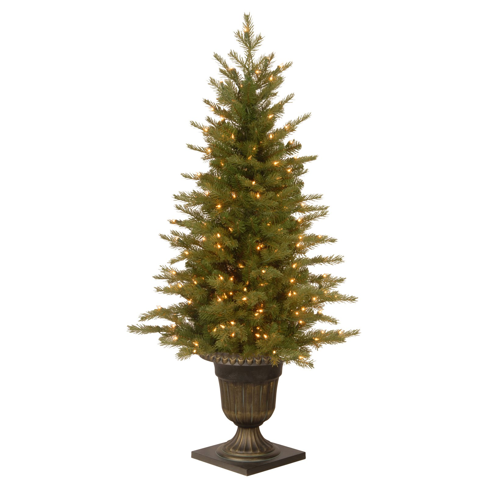 "Real Or Fake Christmas Tree: National Tree Pre-Lit 4' ""Feel Real"" Nordic Spruce"