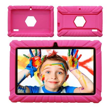 Contixo Defender Series Silicone 7 inch Android Tablet Cover Case (Pink)