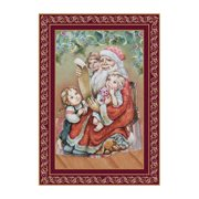 aMonogram Art Unlimited Checking It Twice Christmas Hand-Woven Tapestry