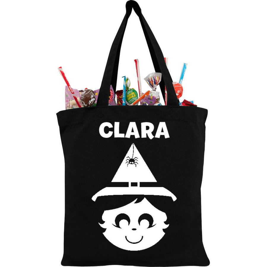 Personalized Sweet Witch Glow In The Dark Tote Bag