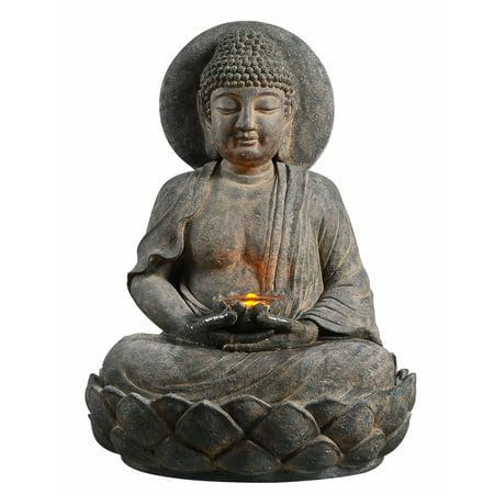 Buddha Outdoor Fountain (Peaktop - Outdoor Buddha Zen Fountain w/ LED)