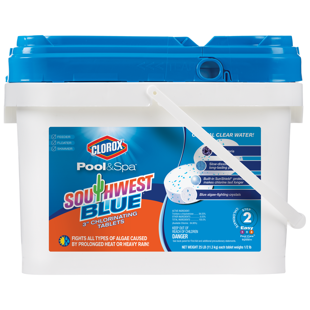 "Clorox Pool&Spa Southwest Blue 3"" Chlorinating Tablets, 25lb"