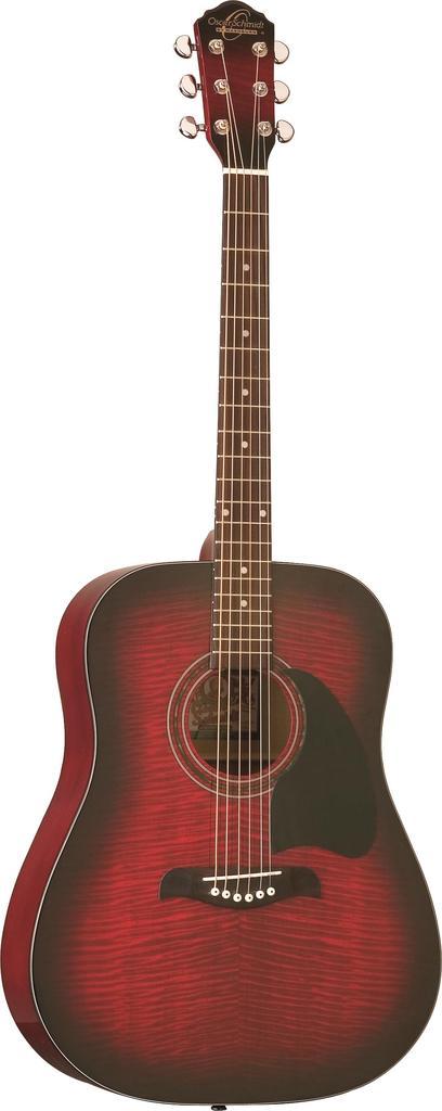 Oscar Schmidt Acoustic Guitar Flame Black Cherry Finish by Oscar Schmidt
