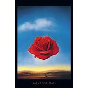 Meditative Rose c 1958 by Salvador Dali 36x24 Art Print Poster Museum Masterpiece Red Rose Blue Sky Famous Painting