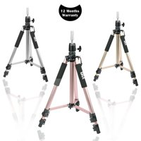 GEX Pink Mannequin Head Tripod Stand Canvas Block Head Tripod Training Head Stand Mannequin Head Stand Heavy Duty Tripod With a Black Bag