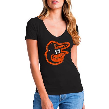 MLB Baltimore Orioles Women's Short Sleeve Team Color Graphic (Crystal Baltimore Orioles Baseball)