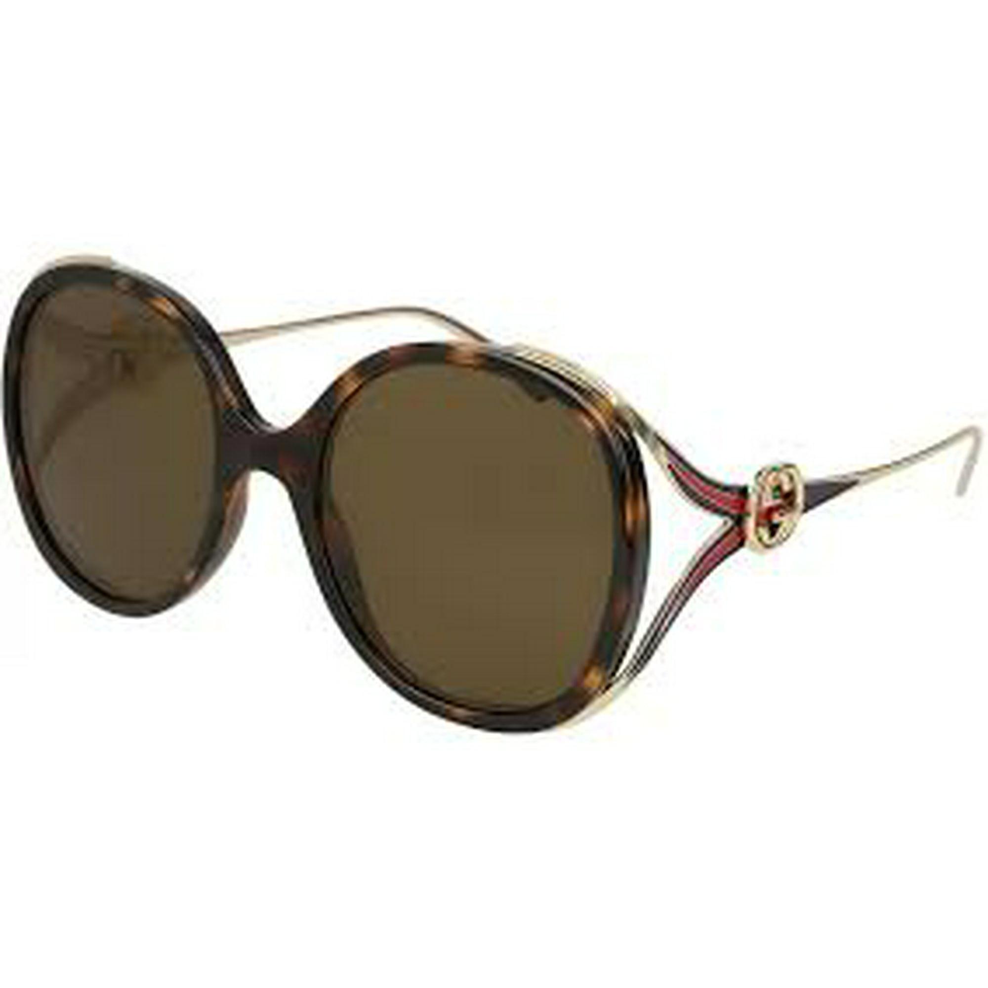 d5cfaf36c65 Gucci Brown Round Sunglasses GG0226S 002 56