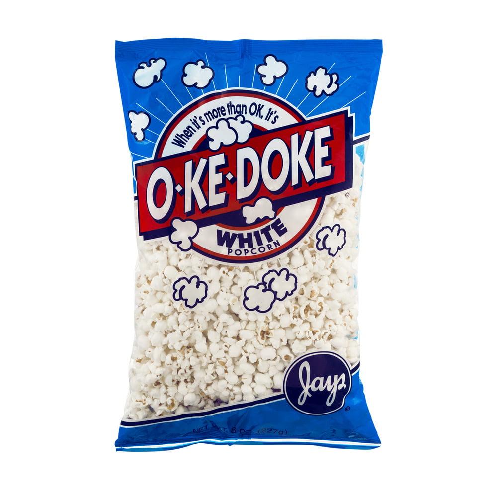 Jays O-Ke-Doke White Popcorn, 8.0 OZ