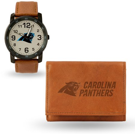 Carolina Panthers Sparo Watch & Wallet Gift Set Carolina Panthers Leather