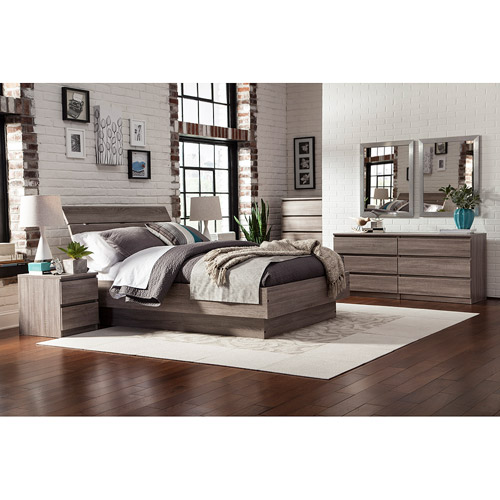 Laguna Full Bed With Headboard, Truffle