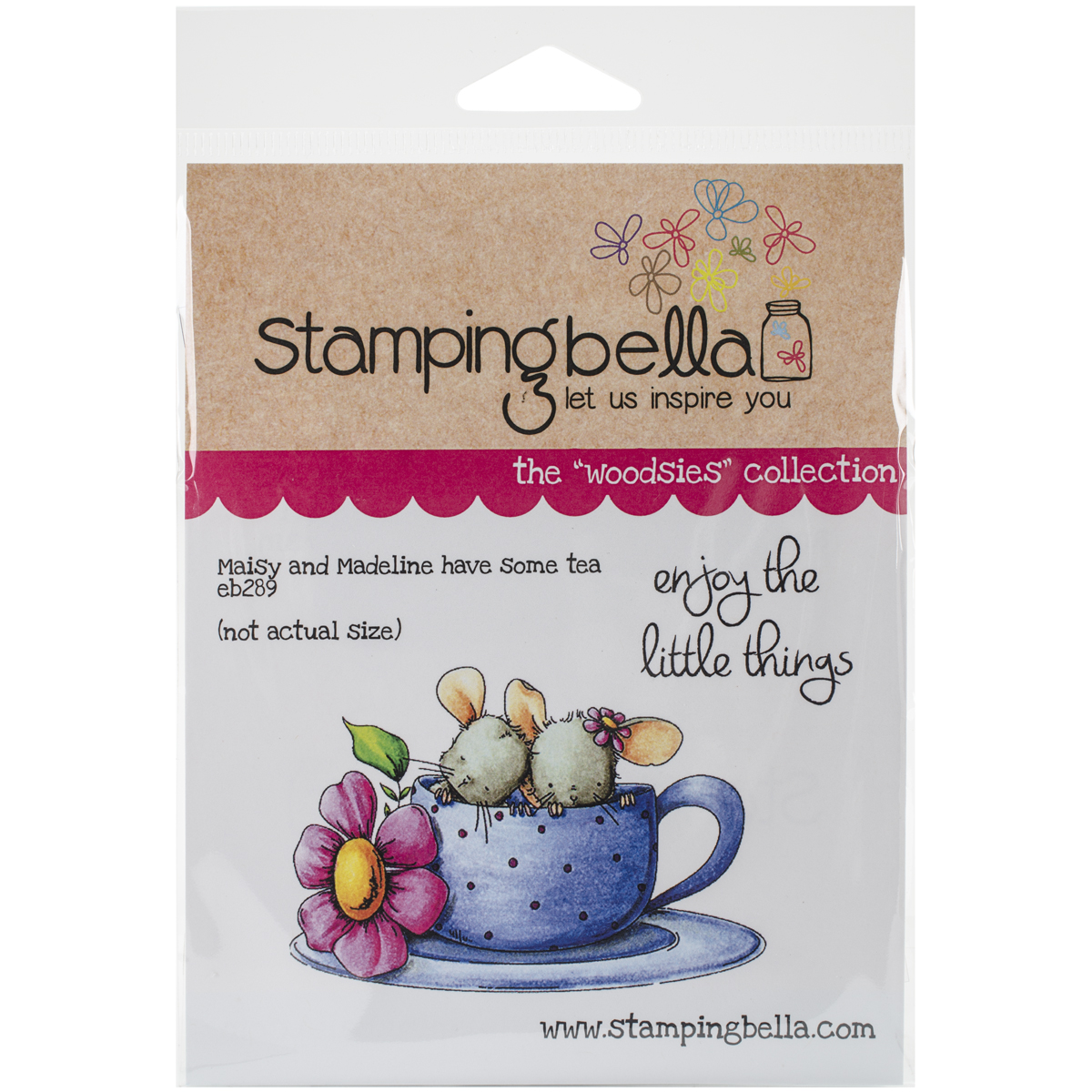"Stamping Bella Cling Stamp 6.5""X4.5""-Maisy & Madeline Have Some Tea - image 1 of 1"