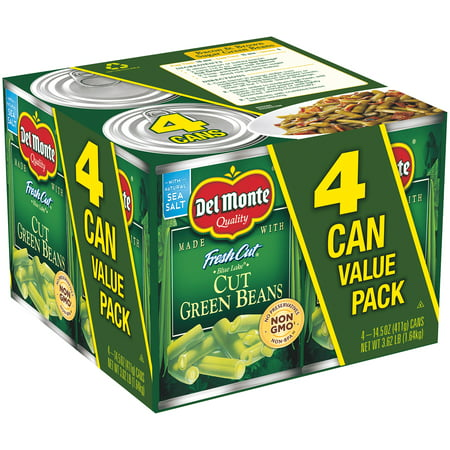 (8 Cans) Del Monte Fresh Cut Blue Lake Cut Green Beans, 14.5