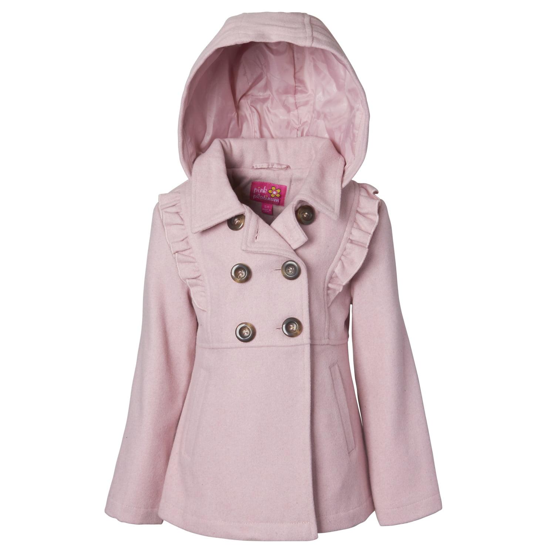 c1c102d8f534 Pink Platinum - Wool Blend Hooded Ruffles Jacket - Walmart.com