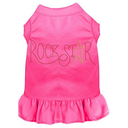 Rhinestone Rockstar Dress Bright Pink Xs (8)