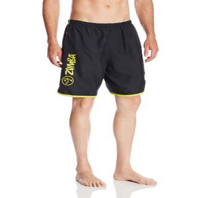 Aqua Zumba by Speedo Men's Let's Connect Hydrovolley with Compression Jammer, Black, Large by