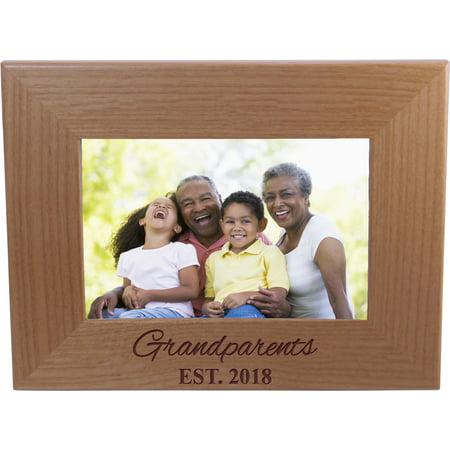Grandparents Frame (Grandparents EST 2018 4-inch x 6-Inch Wood Picture Frame )