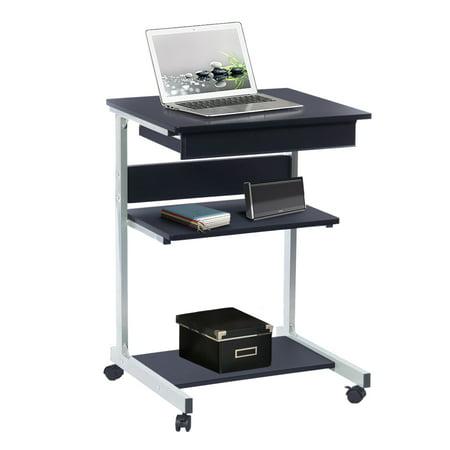 Techni Mobili Rolling Laptop Desk With Storage Graphite
