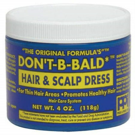 Don't Be Bald Hair and Scalp Dress (Bald Cap With Hair)