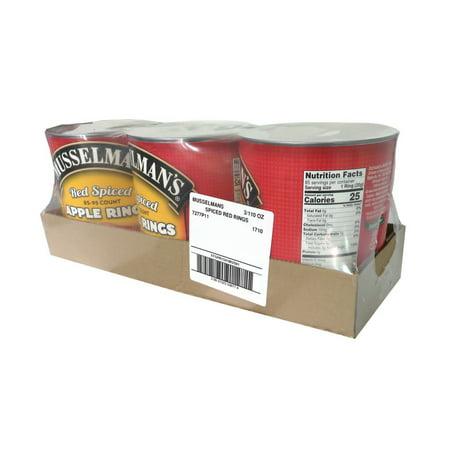 Spiced Apple Rings (Musselman's FFSPR1541MUS01 Musselman'S 85-95 Count Red Spiced Apple Rings - 3/110 oz Cans)