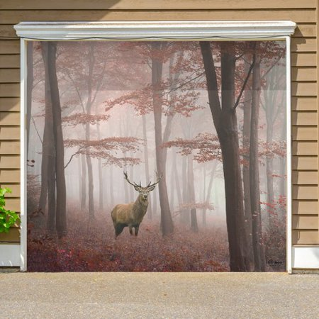 Loon Peak Deer in The Woods Nature Garage Door