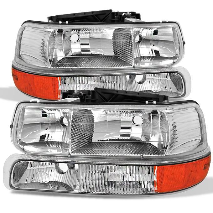 1999-2002 Silverado Suburban Chrome Amber Front Bumper Signal Parking Light Lamp