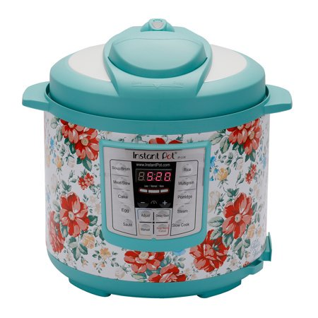 The Pioneer Woman Instant Pot LUX60 6 Qt Vintage Floral 6-in-1 Multi-Use Programmable Pressure Cooker, Slow Cooker, Rice Cooker, Sauté, Steamer, and Warmer