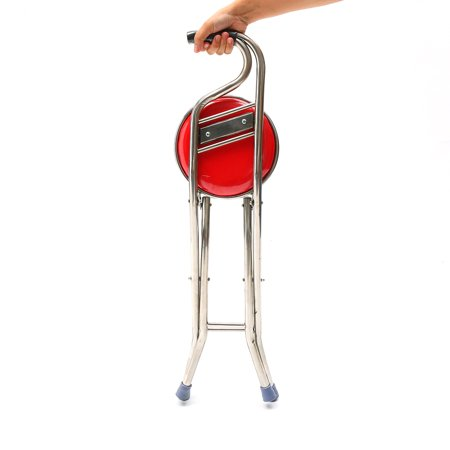 Cane Seat Walking Stick Folding Seat Portable Fishing Rest Stool Walking Cane Heavy Duty Type Light Adjustable Multifunctional Cane Chair for Elder Parents Gift - image 1 of 11