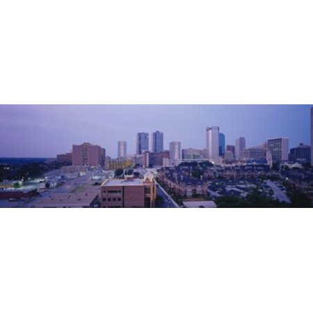 High angle view of a city Fort Worth Texas USA Canvas Art - Panoramic Images (18 x 6)