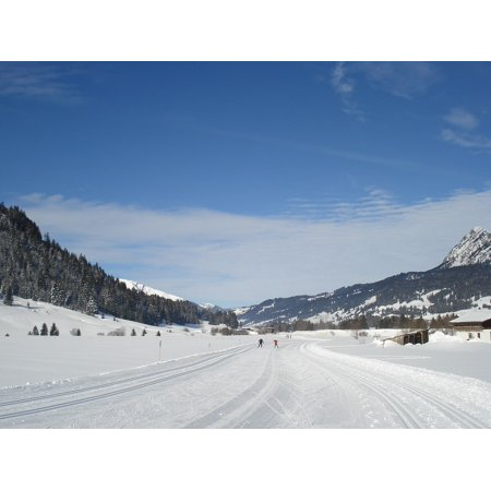 Canvas Print Tannheim Gr??n Cross Country Skiing Winter Ski Snow Stretched Canvas 10 x 14 All Terrain Cross Country Skis
