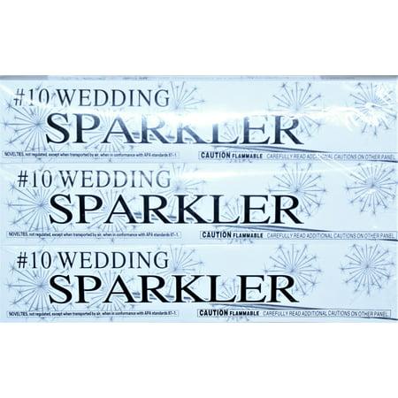#10 Silver Wedding Sparklers 10 inch