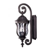 Savoy House Monticello Wall Mount Lantern in Black