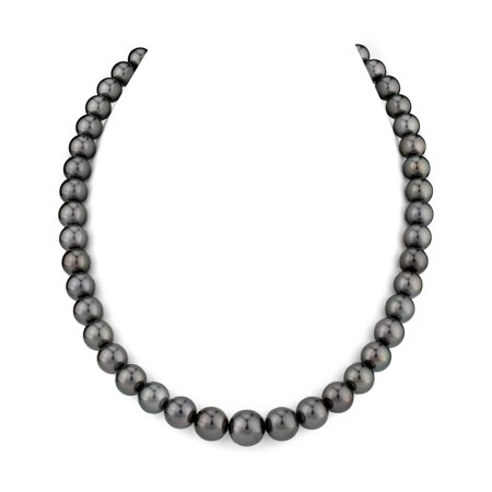 14K Gold 8-10mm Tahitian South Sea Cultured Pearl Necklace - AAA Quality, 16