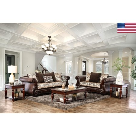 appealing traditional fabric sofas living room furniture | Formal Traditional Living Room Furniture 2pc Sofa Set Sofa ...
