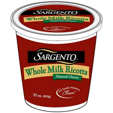 Sargento Whole Milk Old Fashioned Ricotta Cheese, 30 oz - Walmart.com