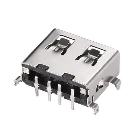 USB-AF Jack Femelle connecteur PCB 90° Direct insérer Plaque Amortissement 5pcs - image 2 de 4