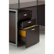 Bush Business Furniture Easy Office Straight Desk with 3 Drawer Mobile Pedestal