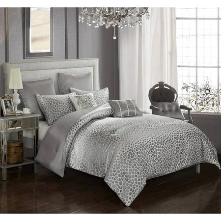 - Better Homes & Gardens Striped Dot Jacquard 7 Piece Comforter Set