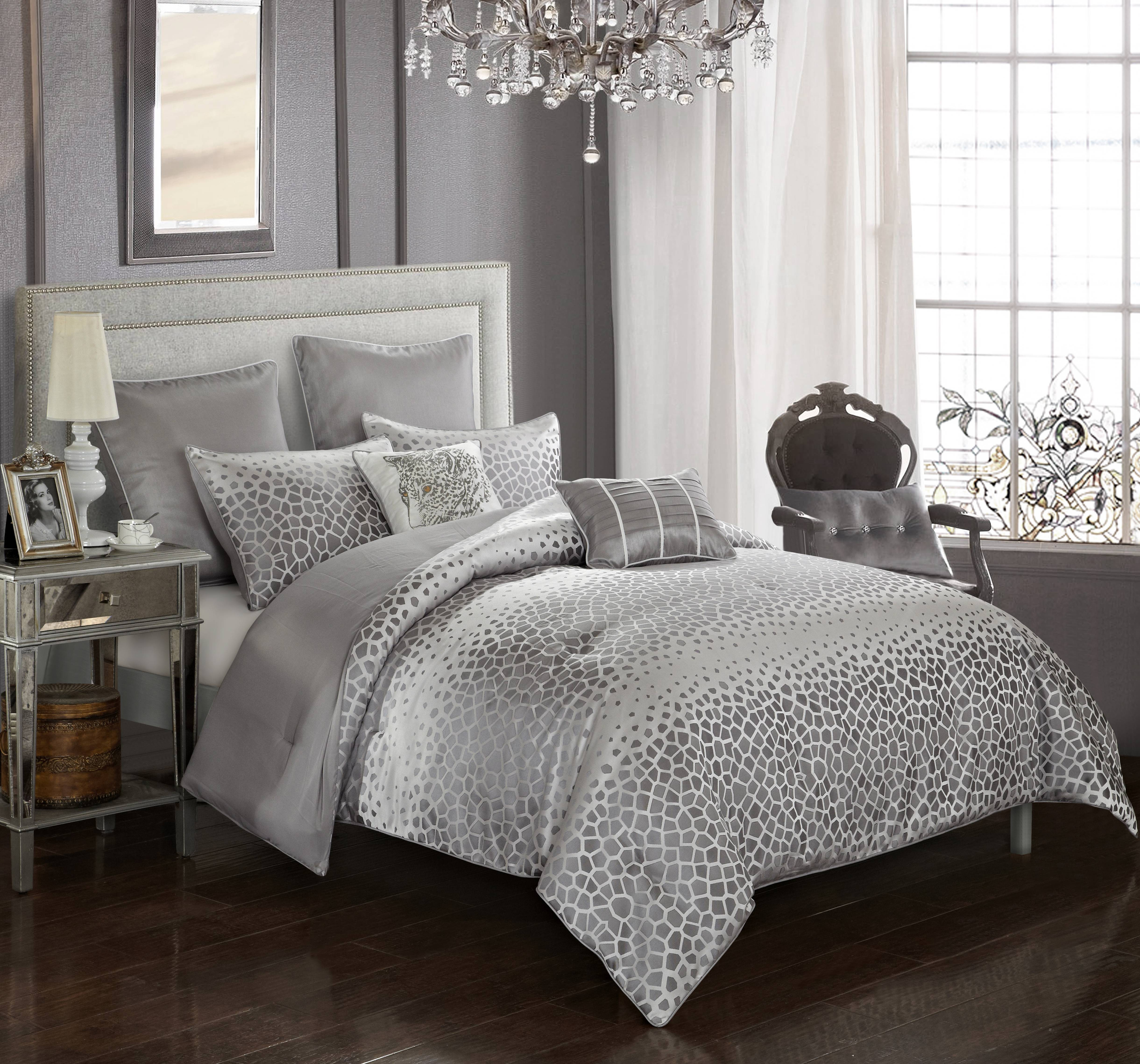 Better Homes & Gardens Striped Dot Jacquard 7 Piece Comforter Set
